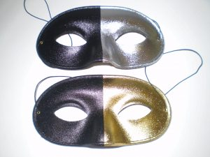 Black & gold, Black and silver masquerade masks for men