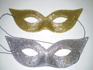 Glitter masquerade masks for women