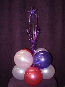 Large spray centrepiece balloon arrangement