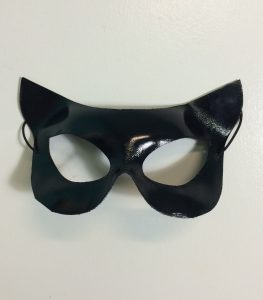 Cat woman mask, Black vynil