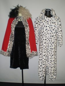 Childs Cruella and dalmation costumes