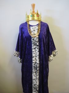 Kids king robe and crown