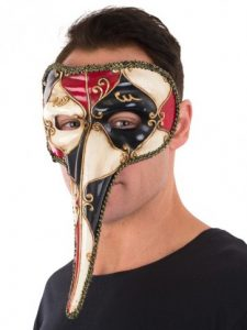 Venetian long beak mask