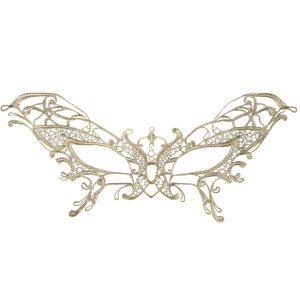 Gold lace eyemask