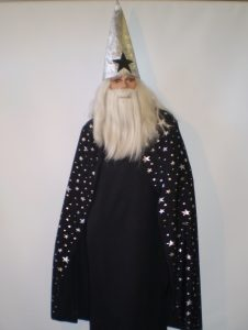 Black & silver wizard costume