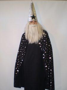 Black & silver wizard costume