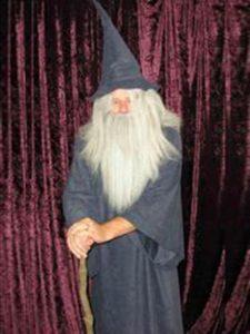 Gandalf the grey style wizard