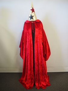 Red Wizard costume Sydney. Red cape, Wizard hat & black robe
