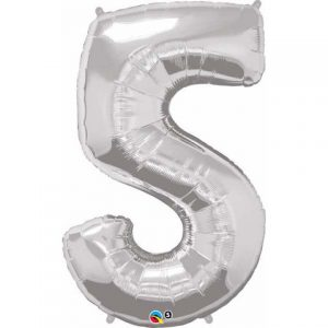 5th birthday balloon. Large foil number balloon