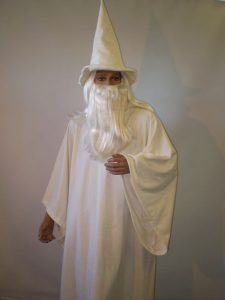 Gandalf the White Wizard. One of our Lord of the Rings costumes.