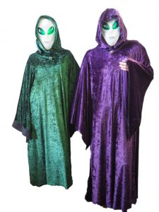 Space Alien costume ideas- Alien robes and masks