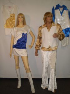 Abba cat costumes, 70s musicians for men and women