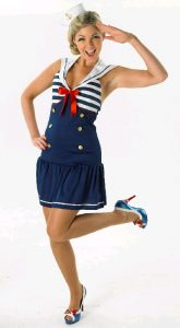 Nautical costumes for women. Sailor girl dress.
