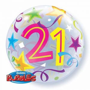21st birthday party balloons