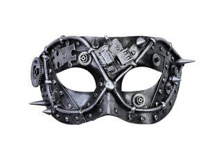 Silver & black steampunk eyemask