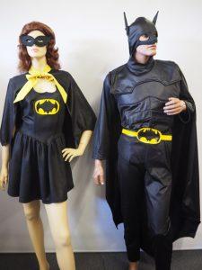 Batman & Batgirl superhero costumes