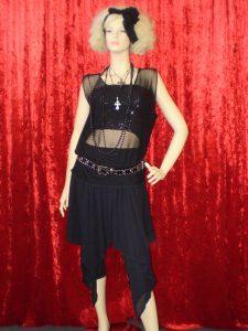 1980's black Madonna costume