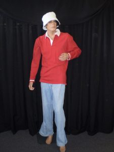 Gilligan costume from 70's TV show Gilligan's Island