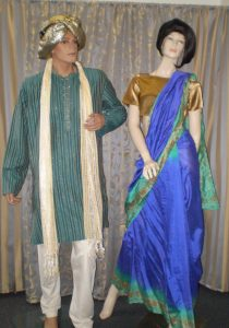 Male and female Bollywood costumes