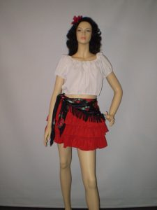 Female short Spanish costume