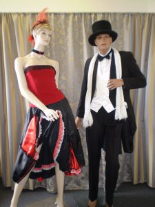 Edwardian showgirl and gentleman