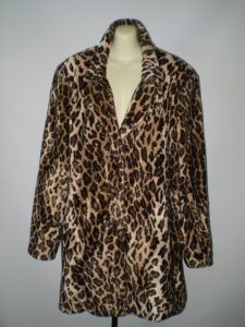 Animal print fur coat-Pimp coat