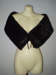 Black fur stole