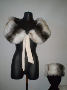Fur stole and hat