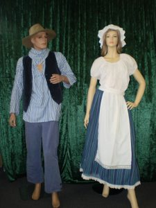 Colonial male and female costume