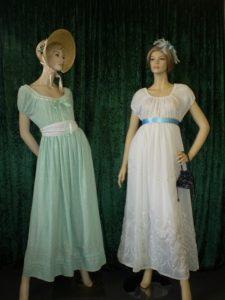 Regency ladies costumes