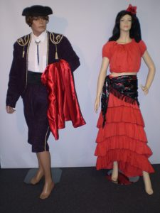 Bullfighter and Senorita Spanish costumes