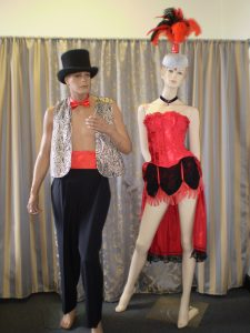 Male and female Burlesque costumes