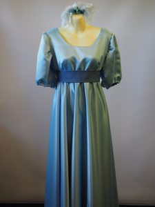 Pale blue Female Regency 1700's - 1800's period costume
