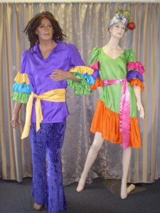 Bright frilled carnival costumes