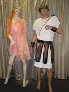 Male and female Roman costumes