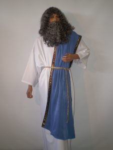 Zeus Greek God costume including wig and beard. Costumes starting with Z