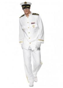 White Admiral or Captains uniform. Nautical costumes for men.