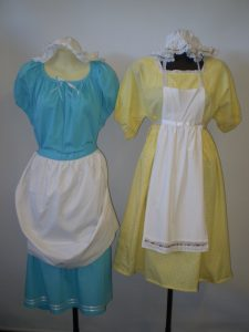 Olden days children's costumes for girls