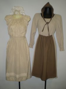 Girls colonial convict costumes available to hire.