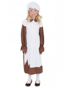 Child's convict or peasant girl costume available to buy