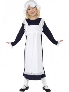 Old fashioned colonial or Victorian girls costume available to buy.