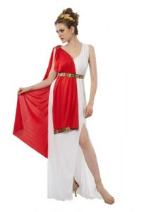 Red and white goddess costume to buy