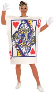 Queen of hearts card costume. Great for Alice in wonderland parties or Vegas themed parties