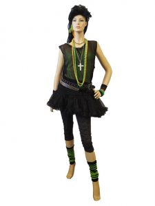 1980's-female-costume-in-lime-&-black