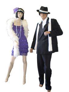 Al Capone style gangster & fringe flapper dress