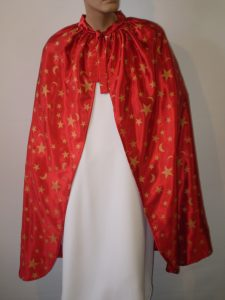 Red cape with gold stars