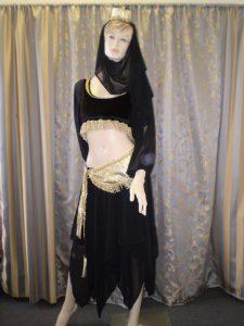 Black and gold Arabian harem girl with skirt