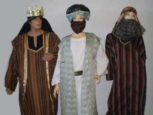 Three wise men biblical costumes