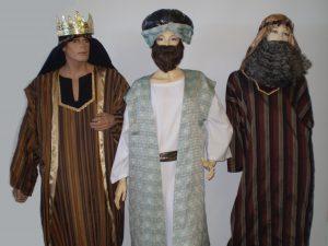 Three wise men biblical costumes