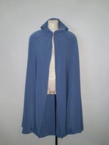 Light blue hooded cape